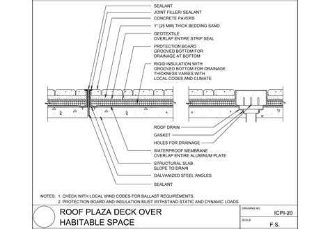 anchoring a roof deck to a parapet roof details autocad kerb parapet adhered concrete