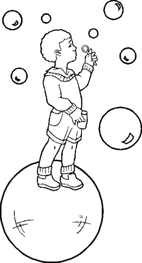 bubble i colouring pages