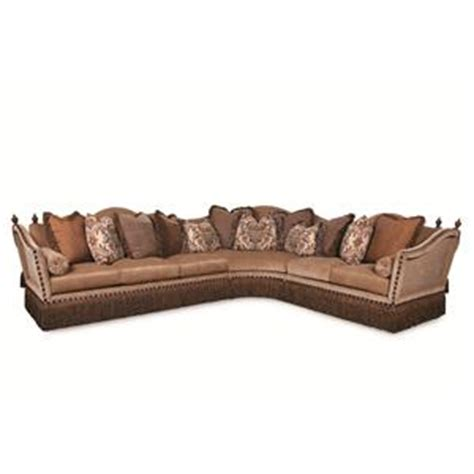 rachlin sectional rachlin classics lorraine fringe skirted traditional