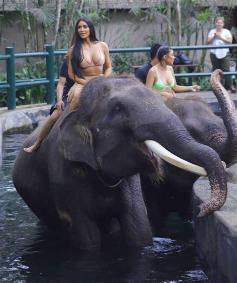 kim kardashian and elephant fans and animal rights groups slam kim kardashian for