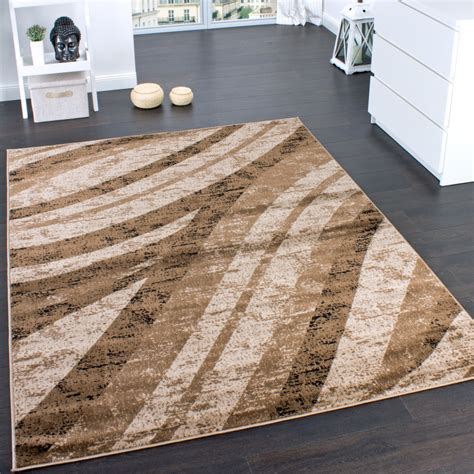 teppiche 150x150 designer rug modern trendy veining wave pattern brown