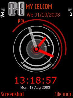 themes clock red download animated red clock nokia theme mobile toones