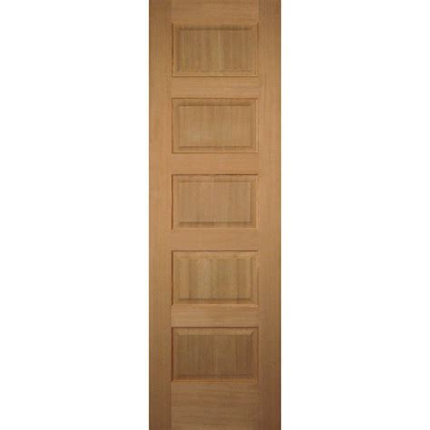 Hemlock Interior Doors Builder S Choice 24 In X 80 In 5 Panel Solid Hemlock Single Prehung Interior Door