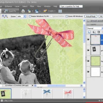 scrapbook digital tutorial photoshop photoshop elements digital scrapbooking tutorial how to