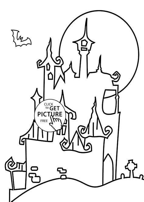 halloween coloring pages castle halloween castle coloring page for kids printable free