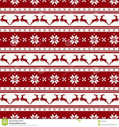 merry christmas pattern vector striped christmas pattern with deers vector seamless