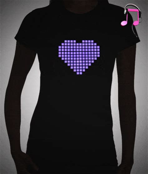 light up t shirt pixel eq shirt sound activated led t shirt