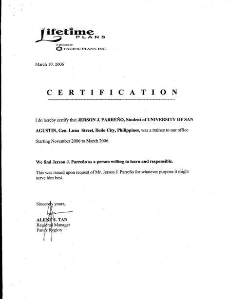 ojt certificate of completion template 5 sample of certificate of