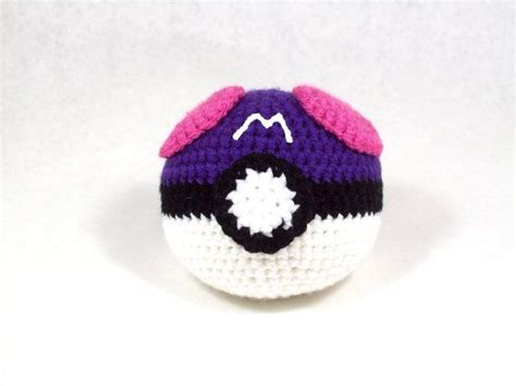 pattern for amigurumi ball amigurumi pattern pokemon inspired master ball pokemon