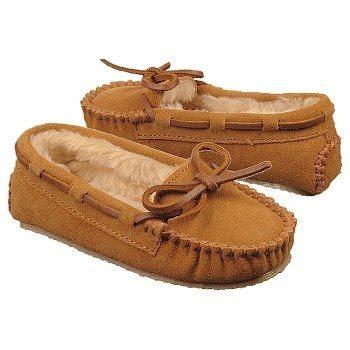 Sepatu Kickers Moc Brown minnetonka moccasin slipper tod pre shoes cinnamon
