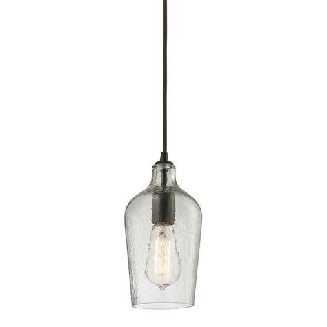 Glass Pendant Lights Canada Titan Lighting Hammered Glass Collection 1 Light Mini Pendant In Rubbed Bronze The Home