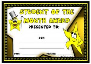 free printable student of the month certificate templates achievement award certificates