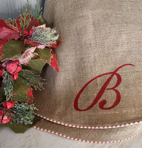 tree skirt 60 burlap tree skirt white