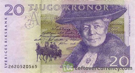 20 Swedish Kronor Selma Lagerlof Exchange Yours For
