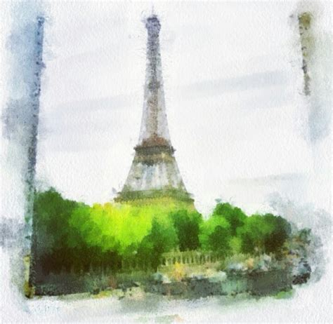 watercolor eiffel tower inspiration