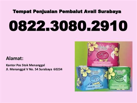 agen pembalut herbal avail di surabaya 082230802910