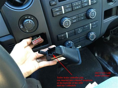 location of brake controller plug pic 2013 f150 ford