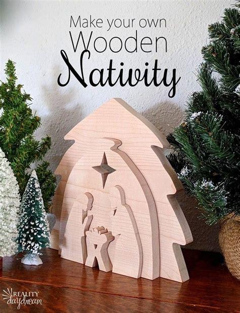 wooden nativity set tutorial easy    scroll