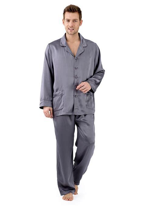 Pajamas Satin Grey by Silk Nightwear Pajamas Gray Pajamas Silk