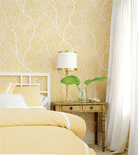 decorating with yellow centsational - Yellow Wallpaper Bedroom