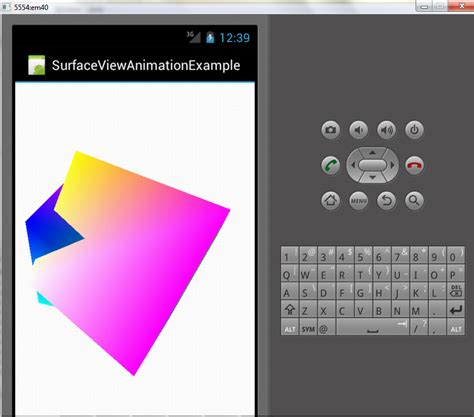 android surfaceview surface view animation exle in android edumobile org