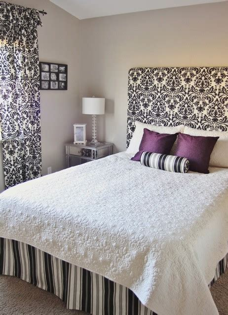 Easy Fabric Headboard by How To Make A Simple Fabric Headboard Wall Mounted Traditional Bedroom San Francisco By