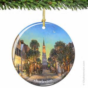 charleston christmas ornament in porcelain by citysouvenirs