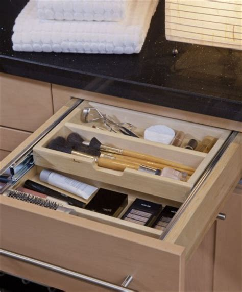 bathroom vanity drawer storage ideas a tiered cutler divider used for makeup storage