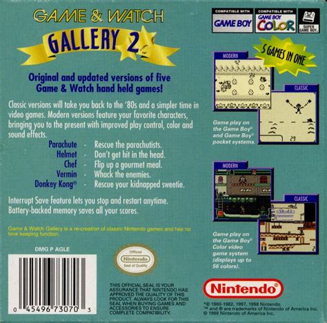 ereader gameboy mod game watch gallery 2 1998 game boy color box cover art