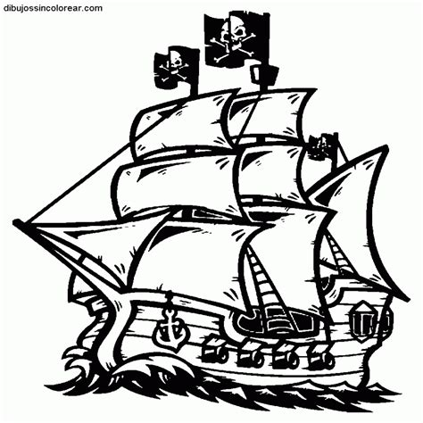 barcos para colorear de piratas 15 dibujos de barcos piratas infantiles para colorear