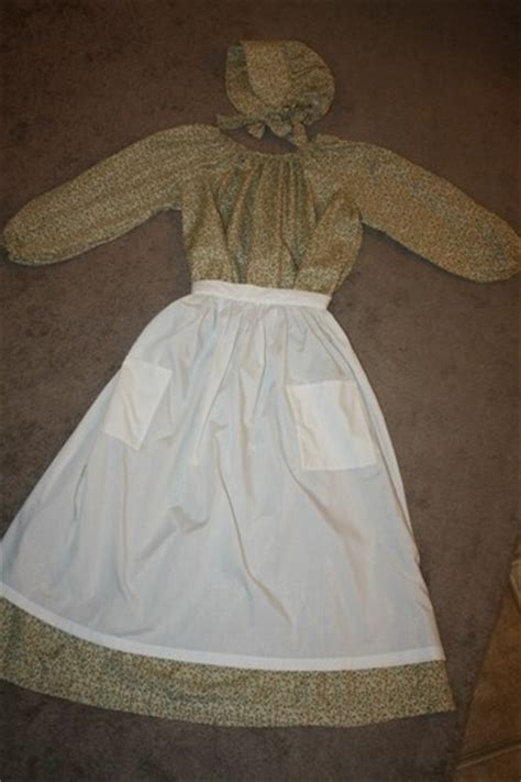 pattern for pioneer apron colonial pioneer prairie civil war trek dress apron