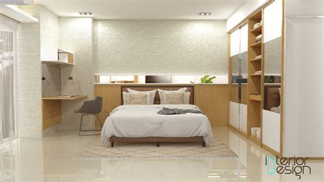 desain interior universitas swasta kamar tidur utama apartemen tamansari semanggi jakarta