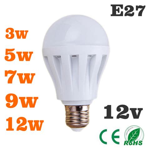 Led Bulbs 3w5w7w9w12w Led Light Bulb Dc 12v E27 12 Volt 12 Volt Led Lights Bulbs