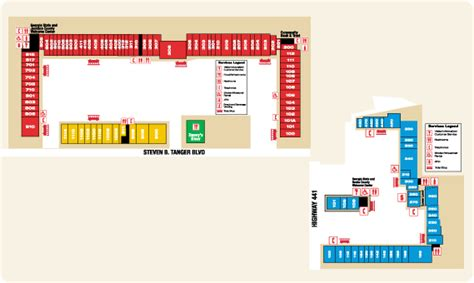 Kitchen Collection Tanger map for tanger outlet of commerce ga map commerce ga 30529