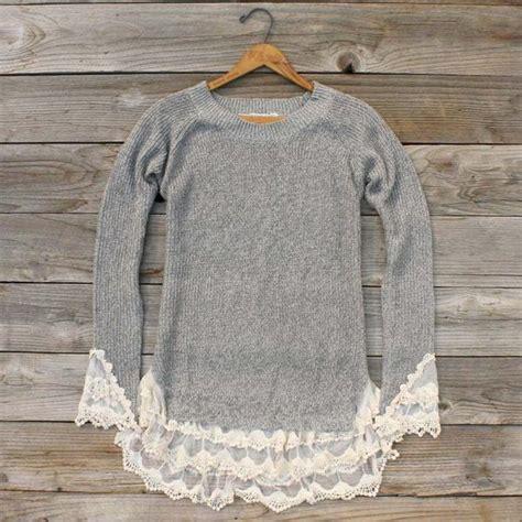 Sweater Skyline 1 skyline lace sweater in ash sweet lace sweaters from spool 72 spool no 72