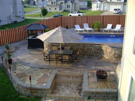 Patio Design Ideas With Above Ground Pool Amypeckarchive