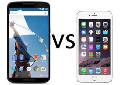 iphone 6 vs android nexus 6 vs iphone 6 comparison android phablet versus ios smartphone pc advisor