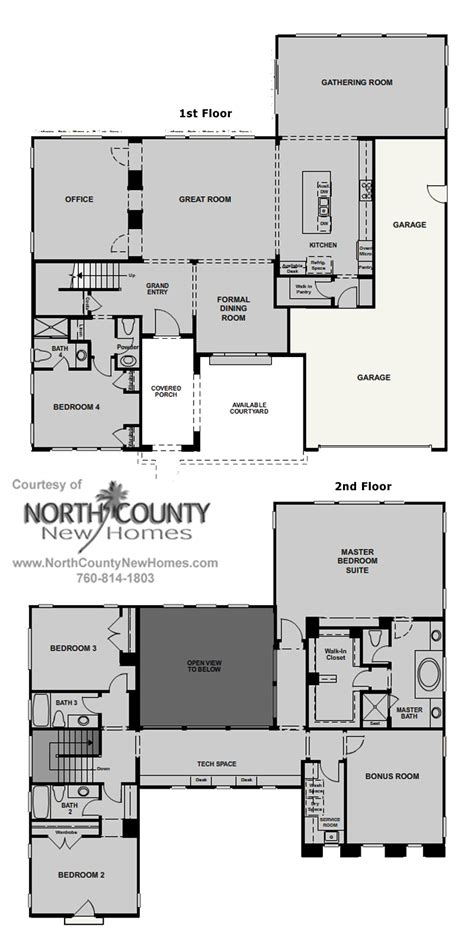 floor plan collection floor plans and new homes for sale in rancho santa fe