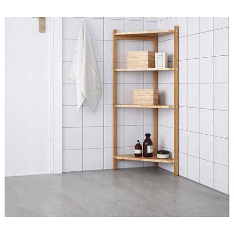 r 197 grund corner shelf unit bamboo 34x99 cm ikea