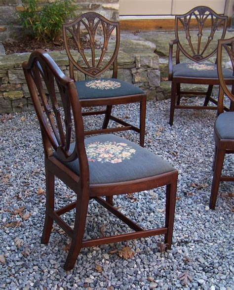 Mahogany Dining Chairs For Sale 8260 Vintage Set Of Ten Hepplewhite Style Mahogany Dining Chairs C1930 For Sale Antiques