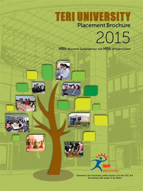 Placement Brochure Mba by Teri Placement Brochure Of Mba Programs 2015