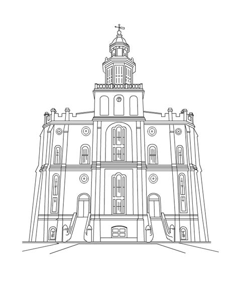 coloring pages lds temples free lds clipart to color for primary children st george