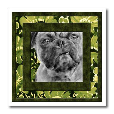 pug iron on transfer doreen erhardt dogs smug pug in green 8x8 iron on heat transfer for white material