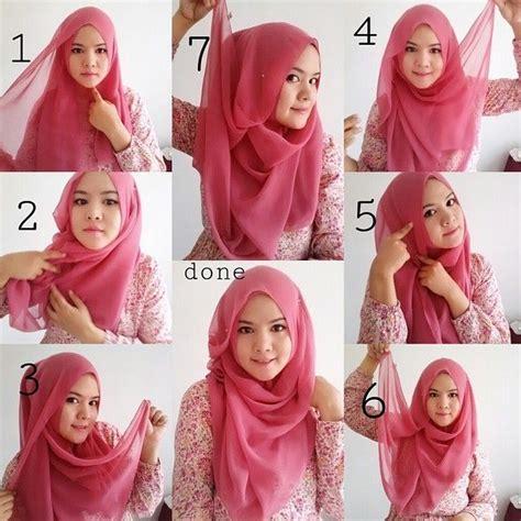 foto tutorial hijab turban segi empat 5 foto tutorial hijab modern segi empat terbaru beserta