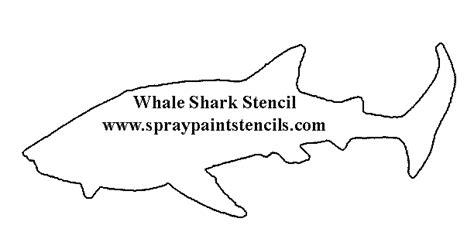 Sea Life Stencils Great White Shark Template