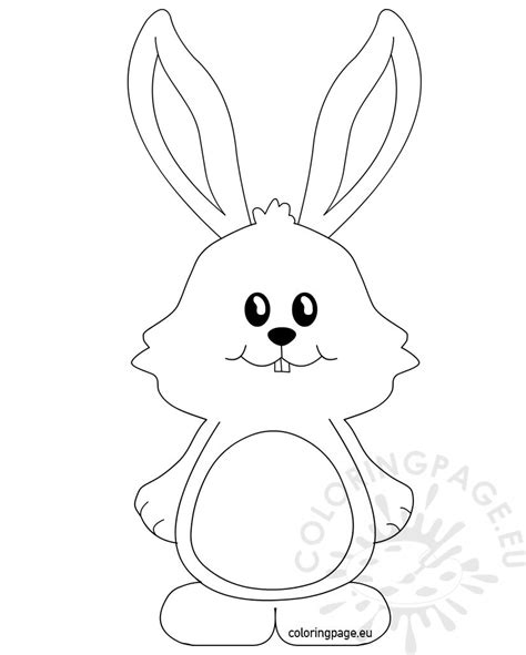 cute bunny with big ears coloring page