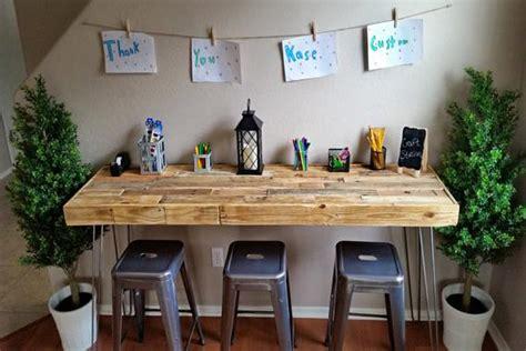 craft table and bar reclaimed wood modern custom craft table bar office work