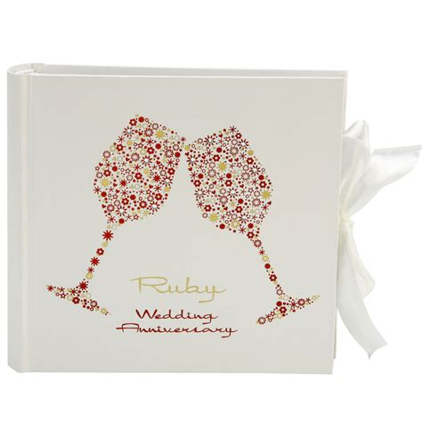 ruby wedding anniversary gifts for 40th ruby wedding anniversary photo album 316 p the