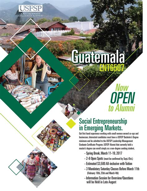 Usf St Pete Mba Tuition by Alumni Encouraged To Participate In Guatemalan Study