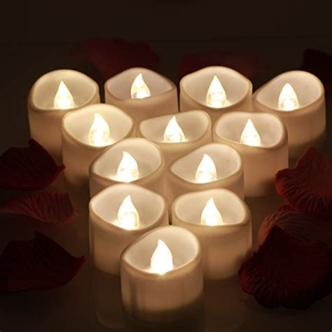 led tea lights with timer omgai led tea lights with timer battery operated unscented